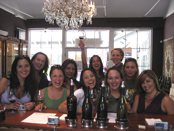 Patrons celebrating at the Tasting Room. A divorce Party